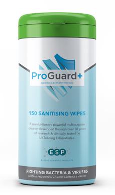 150 Sanitising Wipes ProGuard