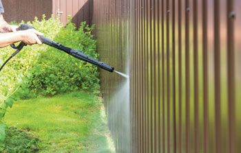 cleaning timber fence